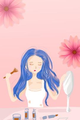 cô gái xinh đẹp vẽ tay quảng cáo nền cơ quan sắc , đẹp, Vẽ, Sắc Ảnh nền