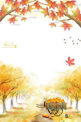 beginning of autumn autumn fall yellow leaf , Fallen Leaves, Poster, Leaves Background image