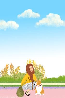 स्प्रिंग फैशन गर्ल यात्रा चित्रण पोस्टर बसंत की शुरुआत ताज़ा लड़की कपड़ा नई यात्रा आकृति चित्रकार , शुरुआत, ताज़ा, लड़की पृष्ठभूमि छवि