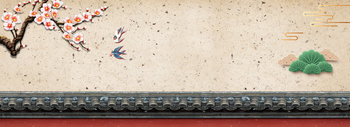 Beginning Of Spring Spring Peach Tree Branch Swallow, China, Traditional, Antiquity, Background image