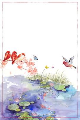 24日食ポスターの背景 ich春 春 春 太陽エネルギー春 春 24ソーラーターム 古代のスタイル 美しい , 24日食ポスターの背景, Ich春, 春 背景画像