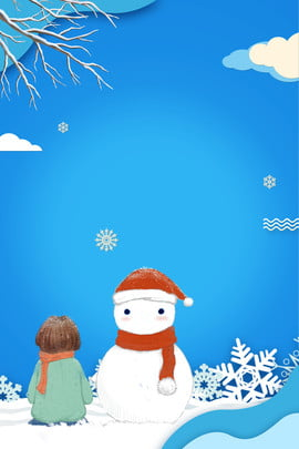 Fresh Simple Snowman Hình Nền