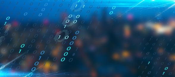priorità bassa blu del manifesto della bandiera di tecnologia di grandi dati grandi dati scienza e, Technology, Nuvola, Internet Immagine di sfondo