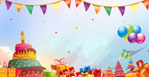 Birthday Invitation Card Party Warm Romantic Bunting Background Image