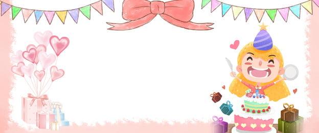 생일 테마 포스터 배경 생일 테마 포스터 생일 소녀 선물 활 양초 멧새 리본 생일, 포스터, 생일, 소녀 배경 이미지