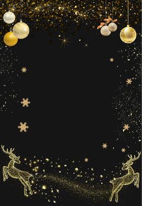 black beautiful christmas christmas , Snowflake, Golden Christmas Ball, Elk Background image