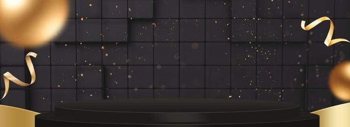 poster banner emas hitam bulu emas jeti bulu hitam jumaat jumaat hitam lima suasana emas, Emas, Peringkat, Lima imej latar belakang
