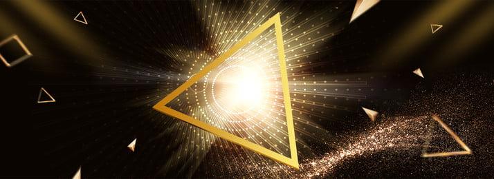 Black Friday Black Gold Triangle Light Effect, Float, Banner, Poster, Background image