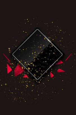 black friday geometric background red geometry floating decoration , Atmosphere, Golden Geometry, Gold Powder Background image