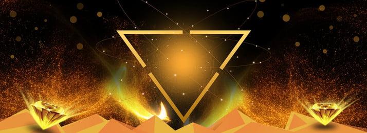 fond noir vendredi noir vendredi dor triangle Étoile diamant poudre dor, Noir, Vendredi, Dor Image d'arrière-plan