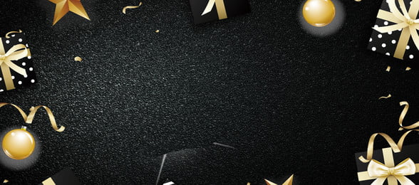 latar belakang golden ribbon hadiah hitam hitam hadiah emas riben reben emas hadiah bola logam kotak, Hadiah, Latar Belakang Golden Ribbon Hadiah Hitam, Emas imej latar belakang