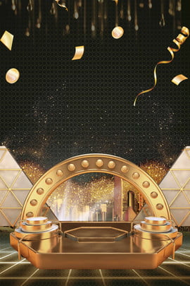 black gold black background gold golden booth , Float, Creative, Synthesis Background image