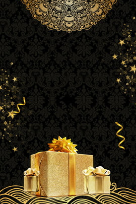 black gold black gold gift , Gift, Anniversary, Black Background Background image