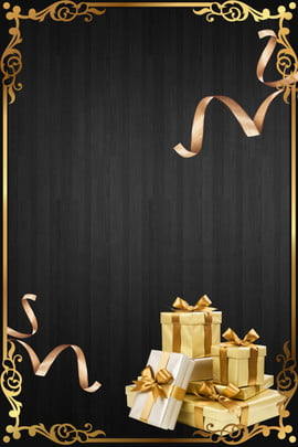 black gold color black gold gift box , Ribbon, Ad, Business Background image