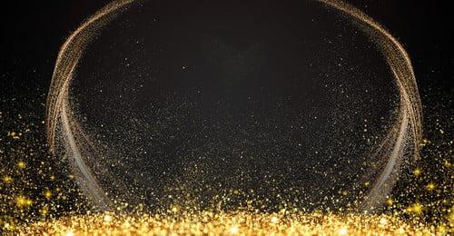 ブラックゴールデンパーティースポットライトの背景 黒 金 カラーライト効果 スポットライト サークル ライトナイト レイトライト イルミネーション スポット 軽い パーティー フラッシュ ライトネオン イエロー スポット スポットライト, ブラックゴールデンパーティースポットライトの背景, 黒, 金 背景画像