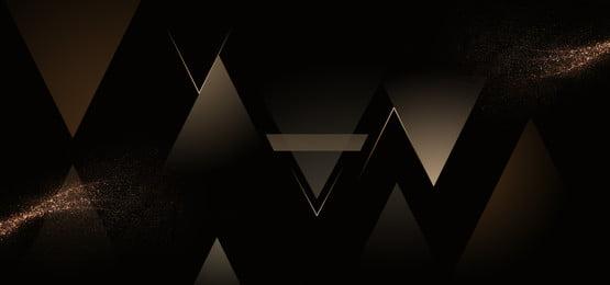 vàng đen banner nền hình học mát mẻ vàng đen tuyệt hình học biểu, Ngữ, ẩn, Đen Ảnh nền