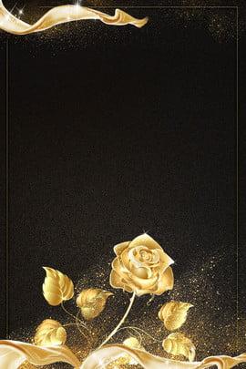 convite de casamento rosa preto dourado preto dourado casamento convite elegante atmosfera alta final luxo negócio simples , Preto, Dourado, Casamento Imagem de fundo