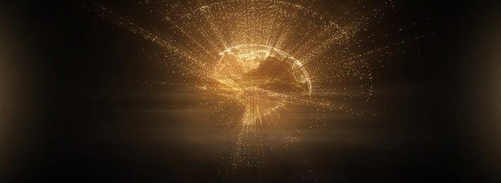 大気ブラックゴールドライトバックグラウンドテンプレート 黒 単純な 雰囲気 募集 市募集 イエロー ゴールデンイエロー 金粉 スポット ライト効果 幾何学的な線 黒 単純な 雰囲気 背景画像