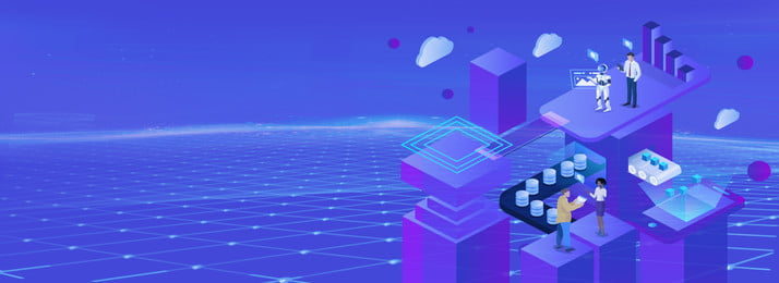 藍色大氣3d立體城市banner 藍色 大氣 3d 立體 城市 banner 立體城市 光線 建築, 藍色, 大氣, 3d 背景圖片