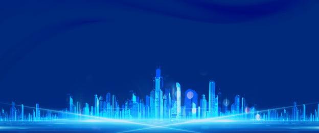 シンプルブルー不動産ポスター ブルー ビジネス 単純な テクノロジー グレア ビル 文学 新鮮な シンプルブルー不動産ポスター ブルー ビジネス 背景画像