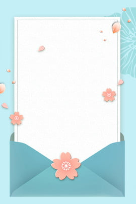 Blue Fresh Envelope Simple, Tanabata, Valentines Day, Ad, Background image