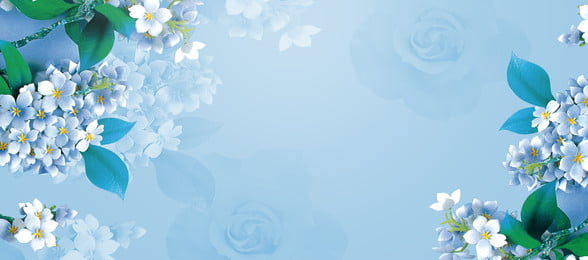 fundo de banner de flor azul fresco arte azul fresco literário flor banner plano de fundo azul fresco literário flor banner plano, Azul, Fresco, Literário Imagem de fundo