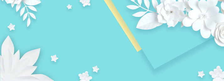 blue fresh paper cut wind flower, Womens Clothing, Cosmetic, Three-dimensional Paper-cut Flowers Background image
