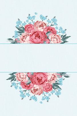 blue retro literary background , Poster, Flower, Shading Background image
