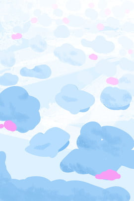 Blue Sky Cloud Cloud Sea, Dream, Cotton Candy, Cartoon Background, Background image