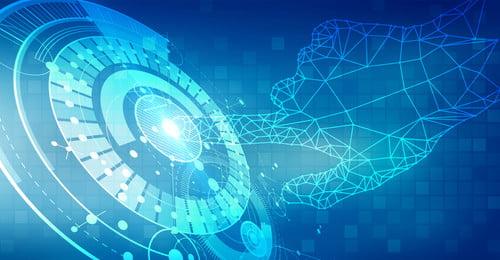 テックラインインターネットの背景 ブルー インターネット 点線 インターネットデータ 行 粒子 テックラインの背景 単純な テクノロジー ビジネス 行 技術的な意味 シンプルな技術, ブルー, インターネット, 点線 背景画像
