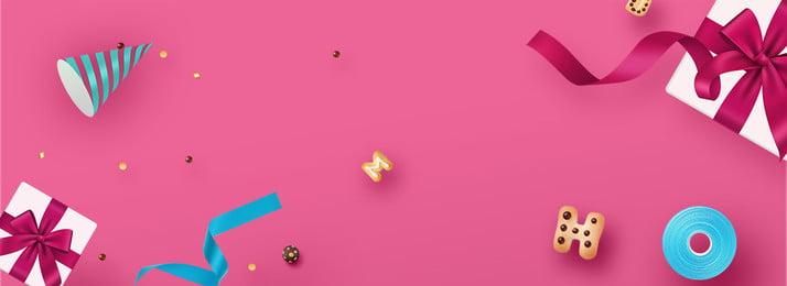 精品禮盒餅乾banner海報 精品禮盒 餅乾 絲帶, 精品禮盒, 餅乾, 絲帶 背景圖片