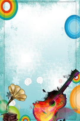 Clube de música do campus recruta novo pôster de fundo Recrutamento da comunidade Recrutamento Guitarra Clube Imagem Do Plano De Fundo