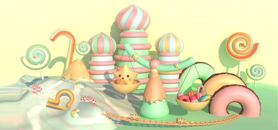 Sweet Candy Chòm sao chủ đề Thiên Bình Màu kẹo Xanh bạc Hình Tráng Ngọt Hình Nền