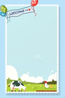 कार्टून पशु प्यारा सीमा पृष्ठभूमि कार्टून पशु कार्टून जानवर सुंदर ढांचा कार्टून बॉर्डर सरल साहित्य , बॉर्डर, सरल, साहित्य पृष्ठभूमि छवि