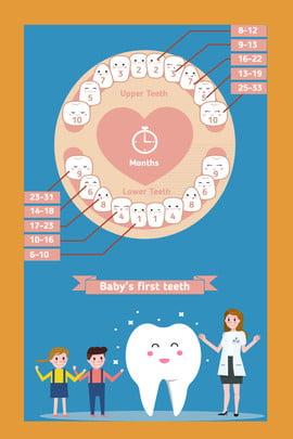 Cartoon vẽ tay tối giản tình yêu răng ngày trẻ em tuyên truyền nền poster Phim hoạt hình Vẽ Phích Bối Răng Hình Nền