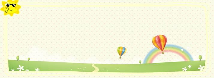 Cartoon nền mùa hè dễ thương Phim hoạt hình Vẽ Giản Súc Cartoon Hình Nền