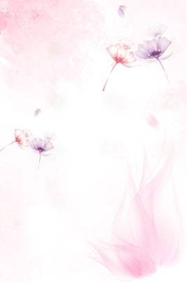 cartoon hand painted pink float , Flower, Simple, Literary Background Background image