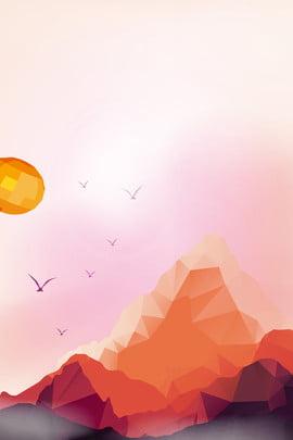 創意合成poly背景 卡通 簡約 創意 poly 低多邊 背景 山脈 鳥 創意 合成 , 卡通, 簡約, 創意 背景圖片