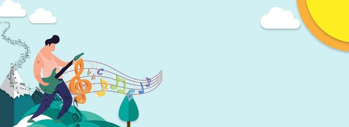 न्यूनतम संगीत पोस्टर पृष्ठभूमि कार्टून हवा सरल संगीत चट्टान संघों चट्टान नई भर्ती, भर्ती, कार्टून, करें पृष्ठभूमि छवि