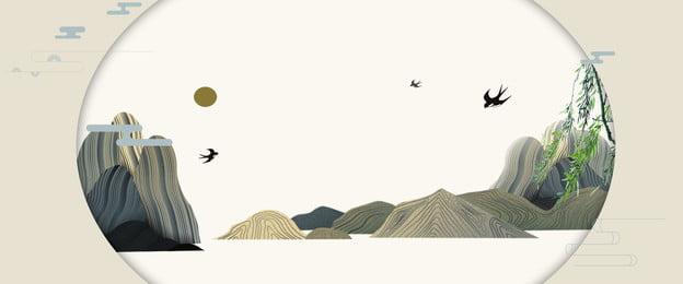 중국 스타일 골동품 고급 빌라 부동산 포스터 중국 스타일 고대 스타일 하이, 중국 스타일 골동품 고급 빌라 부동산 포스터, 엔드, 빌라 배경 이미지