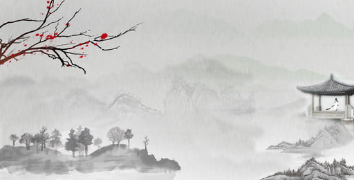 Chinese Style Chinese Style Ink Classical Antiquity, Beautiful, Landscape, Ink, Background image