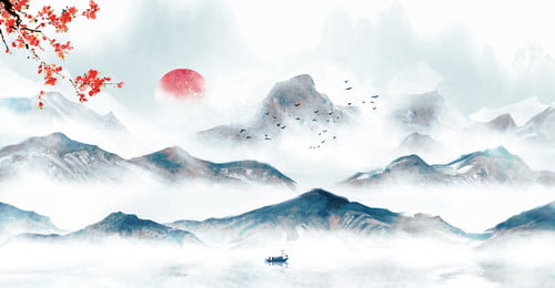Chinese Style Freehand Drawing Sketching Chinese Painting Hand Painted Landscape Painting, Hand Painted Ink Background, Writing Brush, Ink, Background image