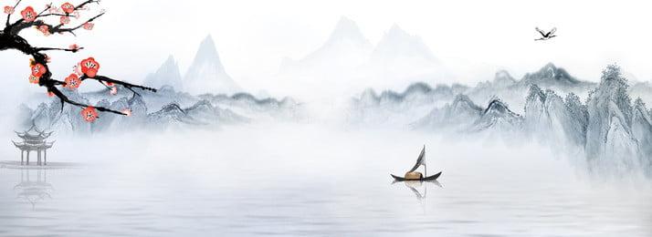 इंक विंटेज लैंडस्केप पेंटिंग पृष्ठभूमि सामग्री चीनी शैली लैंडस्केप पेंटिंग पहाड़, पेंटिंग, चीनी, चोटी पृष्ठभूमि छवि
