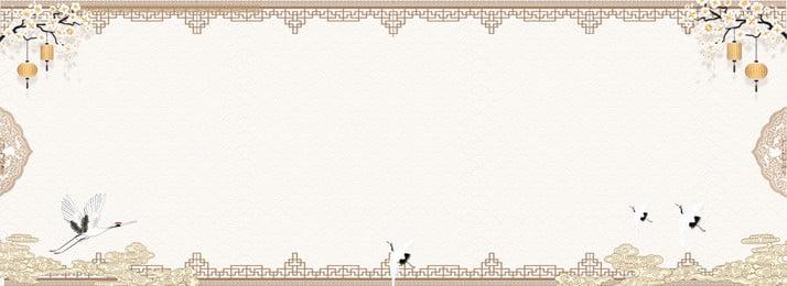 fundo de guindaste simples de estilo chinês estilo chinês retro simples textura fronteira flor de, Estilo, Pêssego, Quente Imagem de fundo