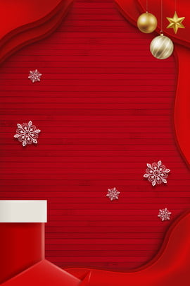 christmas christmas card simple stereoscopic , Origami, Red, Christmas Socks Background image
