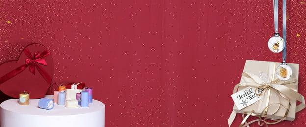 Red Poster Christmas Hình Nền