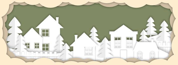 พื้นหลังสร้างสรรค์การตัดกระดาษคริสต์มาส คริสต์มาส ต้นคริสต์มาส สไตล์กระดาษตัด ง่าย ความคิดสร้างสรรค์ กองหิมะ คริสต์มาส ต้นคริสต์มาส สไตล์กระดาษตัด รูปภาพพื้นหลัง