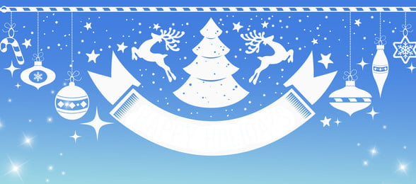 christmas gradient blue christmas eve, Simple, Banner, Poster Background image