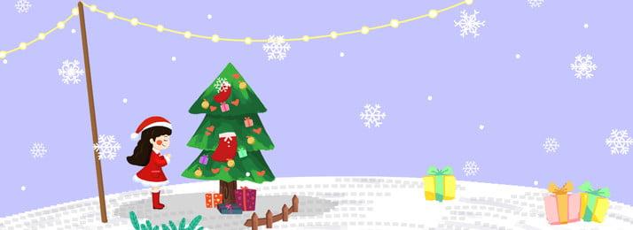 Christmas Make A Wish Christmas Tree Girl, Fresh, Gift, Illustrator Style, Background image