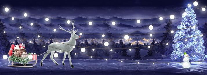 クリスマスの夜の神秘的なライトの背景 クリスマス 夜 子鹿 スノーフレーク 冬 西部 文化的な創造性 クリスマスツリー ギフト 文学的背景 クリスマス 夜 子鹿 背景画像